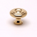 Berenson Newport Series 1-1/16 Inch Knob in Polished Brass