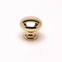 Berenson Plymouth Series 1-1/8 Inch Knob in Polished Brass