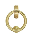 Beslagsboden Design Finnish Ring Door Knocker - Brushed Brass