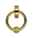 Beslagsboden Design Finnish Ring Door Knocker - Polished Brass