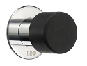 Beslagsboden Door Stop - Black / Polished Stainless Steel