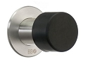 Beslagsboden Door Stop - Black / Brushed Stainless Steel