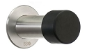 Beslagsboden 3 Inch Door Stop - Black / Brushed Stainless Steel