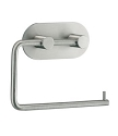 Beslagsboden Design Steel Round Base Toilet Roll Holder - Brushed Stainless Steel