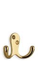 Beslagsboden Classic Basic 1 3/4 Inch Double Coat Hook - Polished Brass