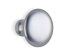 Beslagsboden Design Basic 1 1/2 Inch Plain Round Knob - Brushed Chrome