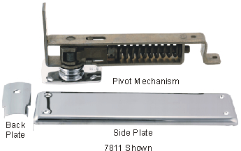 Bommer Spring Pivot Double Acting Hinge Floor Mounted