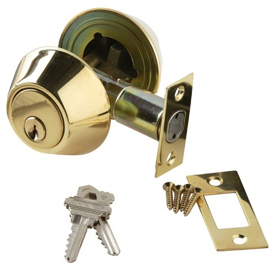 Brass Accents Double Cylinder Deadbolt 2 Inch Backset