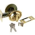 Brass Accents Single Cylinder Deadbolt - 2 Inch Backset