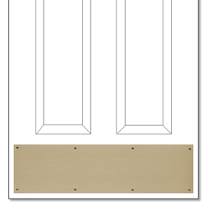 ZoomAntique Brass Kickplate   Brass Accents Antique Brass Kickplate. Entry Door Kick Plates. Home Design Ideas