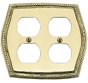 Brass Accents Rope Switchplate
