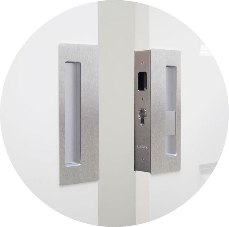 Privacy Pocket Door Hardware cavilock cl400d magnetic privacy pocket door lock for bi-parting doors