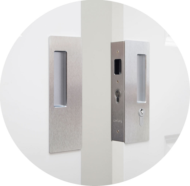 Cavilock CL400D Magnetic Keyed Pocket Door Lock For Bi Parting Doors