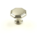 Century Apac 1 3/16 Inch Cabinet Knob in Satin Nickel