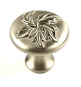 Century Aspen 1 3/16 Hand Polished Cabinet Knob in Dull Satin Nickel