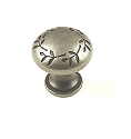 Century Hamilton 1 3/16 Inch Cabinet Knob in Antique Pewter