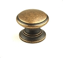 Century Hartford 1 1/4 Inch Cabinet Knob in Antique Copper