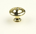 Century Hartford 1 3/16 Inch Cabinet Knob in Polished Brass