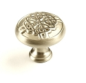 Century Highlander 1 3/16 Inch Cabinet Knob in Dull Satin Nickel