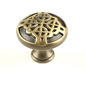 Century Highlander 1 3/16 Inch Cabinet Knob in Weathered Brass