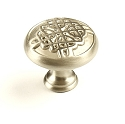 Century Highlander 1 3/8 Inch Cabinet Knob in Dull Satin Nickel
