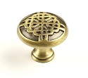 Century Highlander 1 3/8 Inch Cabinet Knob in Weathered Brass
