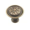 Century Iris 1 3/8 Inch Cabinet Knob in Antique Bronze