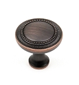 Century Kentwood 1 1/4 Inch Cabinet Knob in Antique Copper