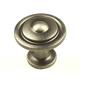Century Lisbon 1 1/4 Inch Cabinet Knob in Antique Pewter
