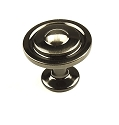 Century Lisbon 1 1/4 Inch Cabinet Knob in Black Nickel
