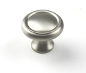 Century Plymouth 1 1/4 Inch CC Cabinet Knob in Dull Satin Nickel