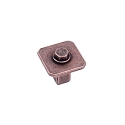 Century Raw Authentic 27MM Square Knob in Matte Antique Copper