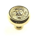 Century Roman 1 1/2 Inch Cabinet Knob in Polished Brass