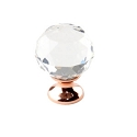 Century Rose Gold 1-1/4 Inch Cabinet Knob