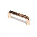 Century Venus 3-3/4 Inch CC Cabinet Pull - Polished Rose Gold