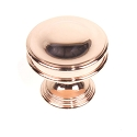 Century Rose Gold 1-3/8 Inch Cabinet Knob- Polished