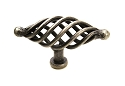 Century Saxon 3 1/2 Inch Appliance Oval Knob in Wrought Iron