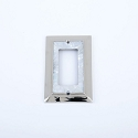 Century Single Rocker SwitchPlate - White Mother of Pearl/Polished Nickel