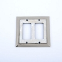 Century Double Rocker SwitchPlate - White Mother of Pearl/Polished Nickel