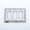 Century Triple Rocker SwitchPlate - White Mother of Pearl/Polished Nickel