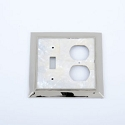 Century Toggle/Duplex Receptacle Switchplate - White Mother of Pearl/Polished Nickel