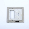 Century Toggle/Rocker Switchplate - White Mother of Pearl/Polished Nickel
