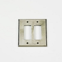 Century Double Rocker Switchplate - Polished White Bronze