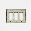 Century Triple Rocker Switchplate - Polished White Bronze