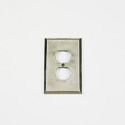 Century Duplex Receptacle Switchplate - Polished White Bronze