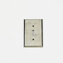 Century Single Toggle Switchplate - Polished White Bronze