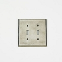Century Double Toggle Switchplate - Polished White Bronze