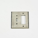 Century Single Toggle/Rocker Receptacle Switchplate - Polished White Bronze