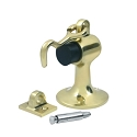 Deltana Solid Brass Floor Door Bumper with Holder & Cement Floor Mount