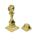 Deltana Solid Brass 3 1/2 Inch Magnetic Door Holder